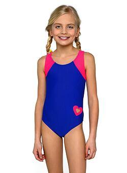 8ff868fd26 Új Eliza lányka egyrészes fürdőruha, kékes-rózsaszín