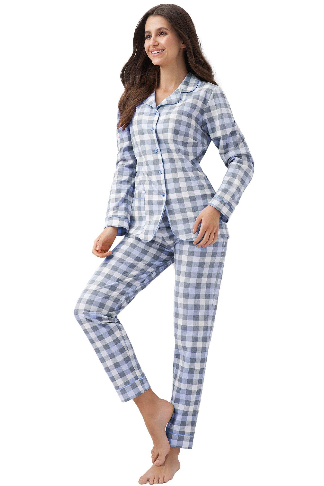 női pizsama kockás nadrággal