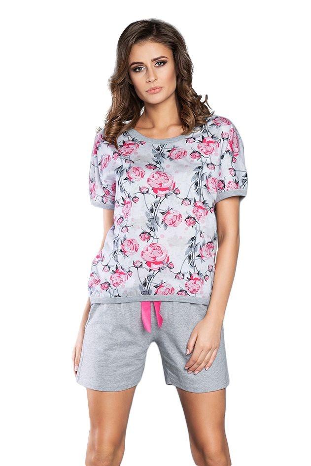 73f427132 Rose női pizsama rózsaszín rózsákkal
