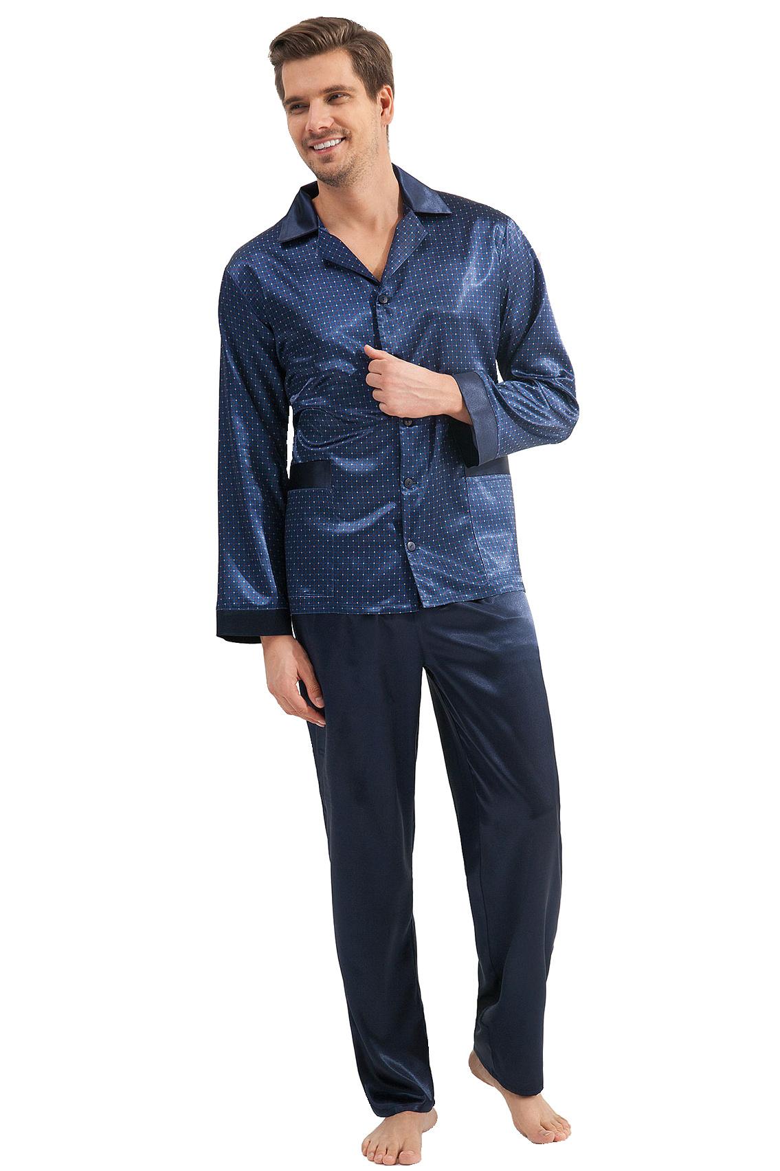 Charles férfi szatén pizsama
